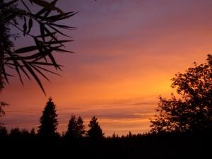 solnedgang på Stenbacken.