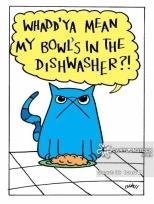 'Whadd'ya mean my bowl's in the dishwasher?!'