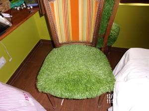 gressplen på stolen, jojo...